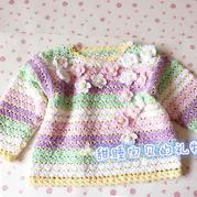 宝宝钩针春装上衣(4-2)儿童钩针春秋毛衣视频教程