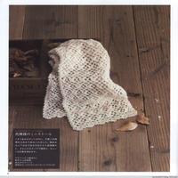 钩针白色小花围巾