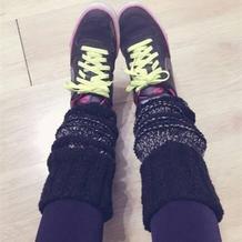 女生休闲时尚棒针靴套袜套