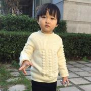 从上往下织儿童棒针贝壳花毛衣