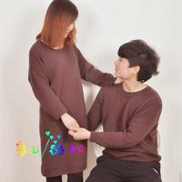 紫魅 情侣款棒针套头毛衣