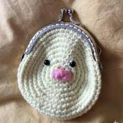 小鸡小鸭造型的钩针编织口金包