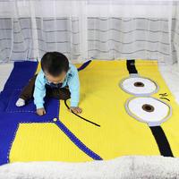 小黄人毯子钩法(2-2)钩毯编织视频教程