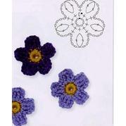 五瓣立体小花