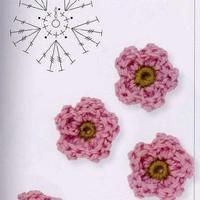 小小五瓣立体花朵