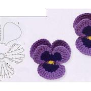 立体紫色蝴蝶兰