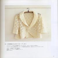 女士钩针白色春秋弧形小外套