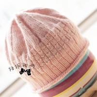 宝宝毛线帽子的编织方法 萌芽儿童棒针帽子的织法图解