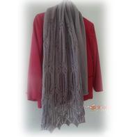 女士围巾编织教程之蝴蝶谷围巾的织法