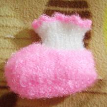 从上往下织男女婴儿毛线鞋编织教程