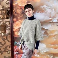 女士毛衣编织实例教程之棒针前短后长韩范风格毛衣织法