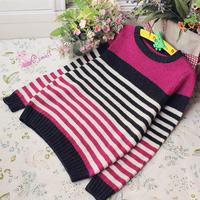 帅气的男童配色毛衣织法编织教程
