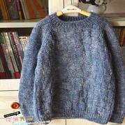 新款儿童毛衣编织教程之男孩棒针圆领插肩袖毛衣