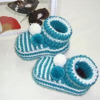 男女宝宝毛线鞋编织教程之棒针高筒宝宝毛线鞋编织教程