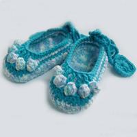 婴儿毛线鞋编织视频之五福宝宝鞋的钩法