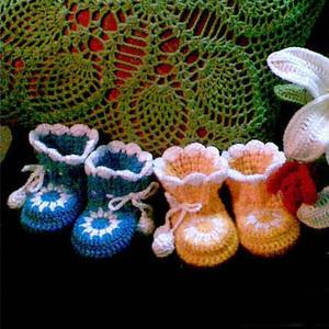 漂亮的钩针宝宝鞋上教程了!超详细的男女宝宝毛线鞋编织教程