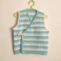 0-3岁宝贝服饰编织之钩针婴儿系带小背心毛衣编织教程