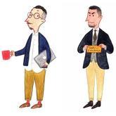 男装主题插画教男生打扮英伦范儿