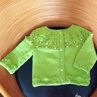 从上往下织0-1岁宝宝开衫毛衣编织视频(4-3)