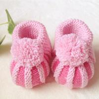 婴儿小鞋子编织视频之棒针南瓜鞋贝壳鞋宝宝鞋的织法