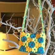 钩最简单的花朵包包之送宝宝的包包钩法