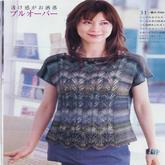 女士段染蕾丝镂空花短袖
