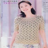 女士叶子花精致短袖衫