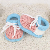 大头元宝鞋(2-2)棒针婴儿毛线鞋编织视频