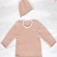 儿童新款春秋毛衣款式之帽子长袖毛衣套装织法视频(4-4)