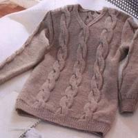 男士毛衣编织实例之欧美休闲风格男士v领毛衣编织视频(3-3)