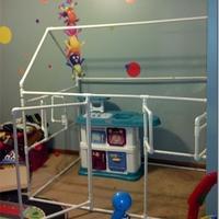 大人孩子都会爱上的手工制作——pvc管儿童游戏房