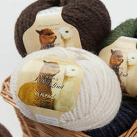 罗莎琳达·RL6002小羊驼绒 粗棒针线大衣围巾帽子外套毛线