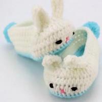 婴儿毛线鞋编织视频之钩针宝宝小兔子鞋视频