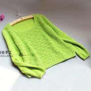 成人毛衣编织实例详解云马羊绒棒针蕾丝花样女士毛衣织法