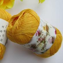 罗莎琳达·RL5002纯色蕾丝棉 爱尔兰蕾丝丝光棉春夏钩织手编毛线