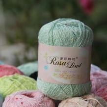 罗莎琳达·RL5006水晶之恋 进口棉线彩珠清凉丝棉 手工钩编线