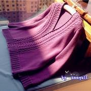 暖春--银笛LK150机织款之V领羊毛开衫
