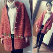 成人毛衣编织实例详解手编时尚棒针女士大衣的织法