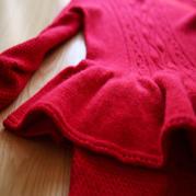 手工编织毛衣款式之云绒女士羊绒套裙织法教程