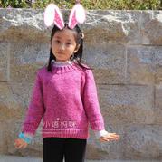妈妈最想编织的儿童毛衣之棒针简洁时尚儿童圆领毛衣
