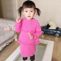 儿童毛线裙子编织教程之女童棒针羊毛套裙织法