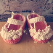 宝宝毛线鞋编织教程教你钩一款超美的小公主鞋