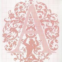毛衣编织字母图案大全之超华丽的英文字母图案