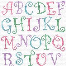 毛衣编织图案之25款编织英文字母图案图解