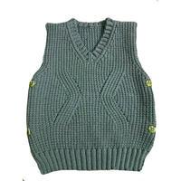 0-3岁宝贝服饰编织之时尚简约可爱棒针宝宝V领马甲织法教程
