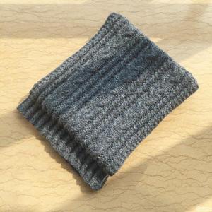 最简单的织围巾教程之云点暗夜蓝粗针织麻花围巾织法