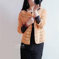 从领口往下织毛衣教程之从上往下钩针编织的女士春季开衫毛衣