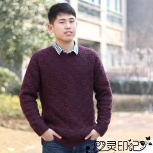 男士毛衣编织实例之仿LV方块花样毛衣教程
