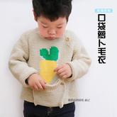 手工编织宝宝毛衣之棒针口袋萝卜儿童毛衣编织视频(2-2)