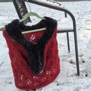 最简单的织围巾教程之云点琅琊棒针粗呢仿皮草围脖